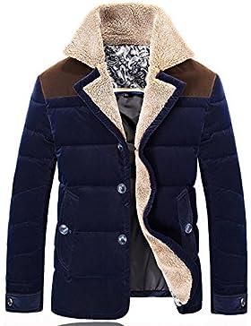 Por la chaqueta chaqueta caliente chaquetas de invierno Nueva Ropa de Hombre , blue , l