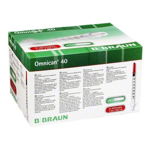 Omnican Insulinspr.1 Ml U40 M.Kan.0,30X12 mm Einz., 100X1 St