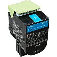 Lexmark 80C2HC0 Cartouche de Toner Laser pour Imprimante CX410/510 Cyan