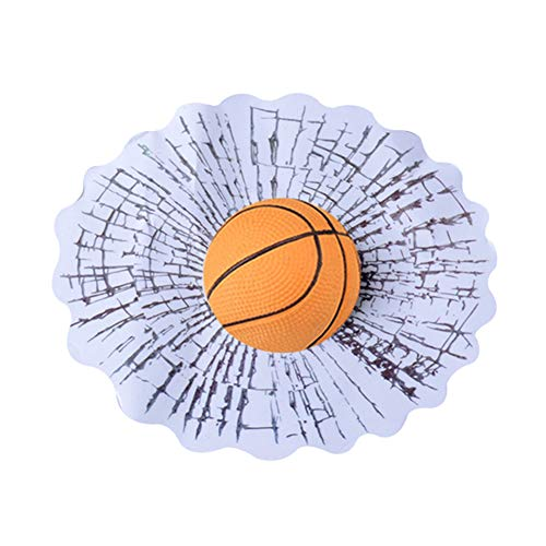 turkeybaby Auto Aufkleber, Lustige 3D Tennisball Basketball Fußball Hit Fenster Riss Auto Aufkleber Dekoration 6