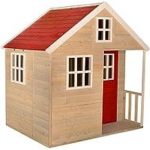 Casa de juegos infantil de madera Nordic Villa para exteriores | Jardín de niños cerrado Tipo