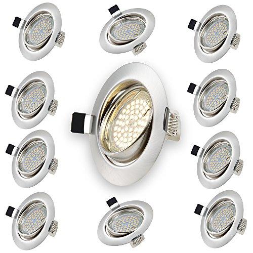 luxpro-10-x-focos-techo-empotrables-redondos-con-bombillas-led-gu10-300lm-3w-luz-blanca-calida-marco
