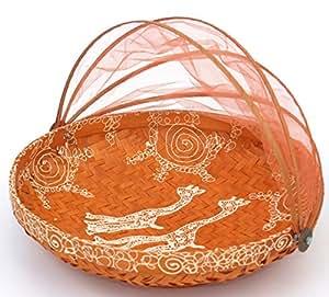 fliegenschutz obstkorb in 3 gr en orange k che tisch variante gr e 25 cm durchmesser. Black Bedroom Furniture Sets. Home Design Ideas