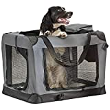 Your Home Folding Pet Crate, Travel Carrier for Dogs & Cats with Fleece