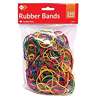 Acerdeals 250pcs Elastic Bands Rubber Bands Ideal For Home, School & Office 140g approx