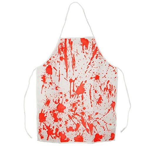 EROSPA® Blutige Schürze Blutspritzer - Halloween / Karneval / Fasching / Party - Unisex