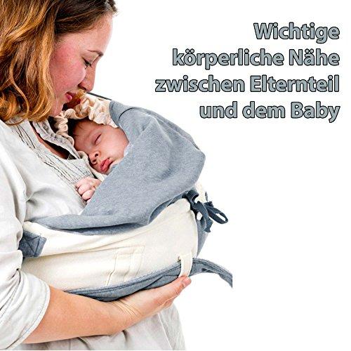 Lodger Shelter 2.0 - 3in1 Babytrage, Babytragetuch, Babysling sowie Transportdecke für Babys und Eltern, ab Geburt bis 18 Monate (max. 12kg), Sicheres Verschlusssystem, Trage-Tuch für Babys und Kinder, Schönes Design, Neu und OVP - 2