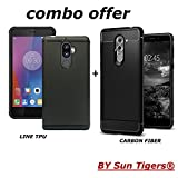 LENOVO K8 Note Back Cover Case [COMBO OFFER] Rugged Armor Back Cover for Lenovo K8 Note[Black]+Anti Dust Plugs Soft Silicone Line TPU Back Case For Lenovo K8 Note (Black) By Sun Tigers® Amazon