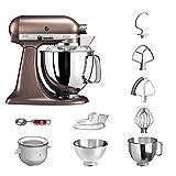 KitchenAid Küchenmaschine | VORTEILS SET | Artisan 5KSM175PS Eiscreme Paket | inklusive Speiseeismaschine und Eisportionierer für hausgemachte Dessert-Kreationen (Macadamia)