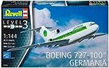 Revell Modellbausatz Flugzeug 1:144 - Boeing 727-100 GERMANIA im Maßstab 1:144, Level 3, originalgetreue Nachbildung mit vielen Details, Zivilflugzeug, Passagierflugzeug, 03946
