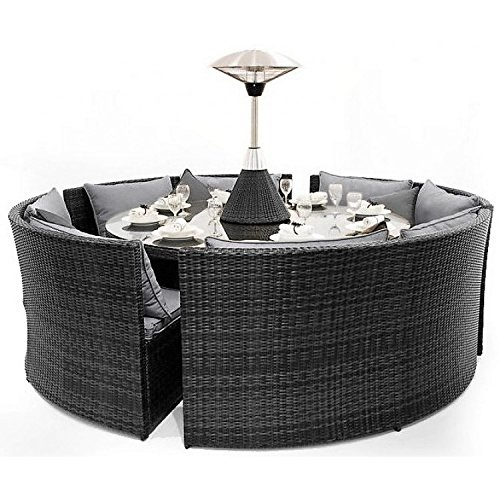 San Diego Dallas Baby Rattan Garden Furniture Grey Corner Set Garden Rattan Furniture