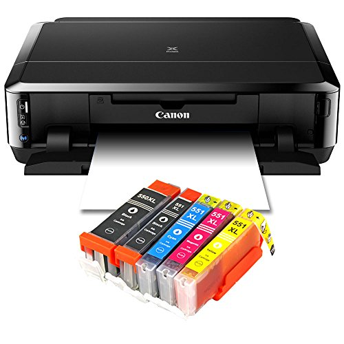 Canon Pixma iP7250 Tintenstrahldrucker mit WLAN, Fotodrucker und CD-Bedruck, Auto Duplex Druck + USB...