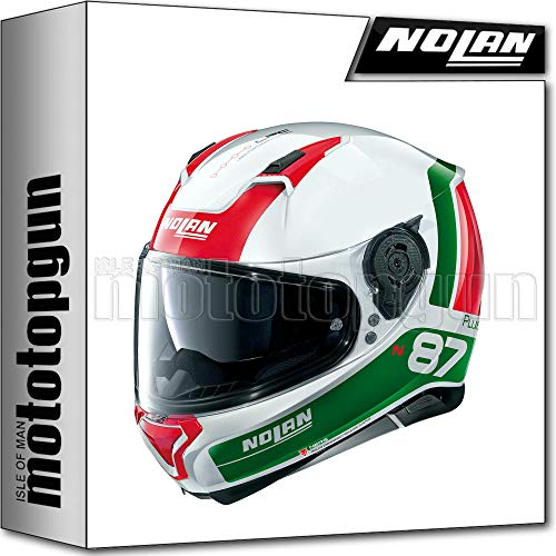 NOLAN CASCO MOTO INTEGRALE N87 PLUS DISTINCTIVE METAL BIANCO 029 TG. L
