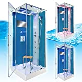 AcquaVapore DTP6038-2102L Dusche Dampfdusche Duschtempel Duschkabine 100x100, EasyClean Versiegelung der Scheiben:2K Scheiben Versiegelung +99.-EUR - 3