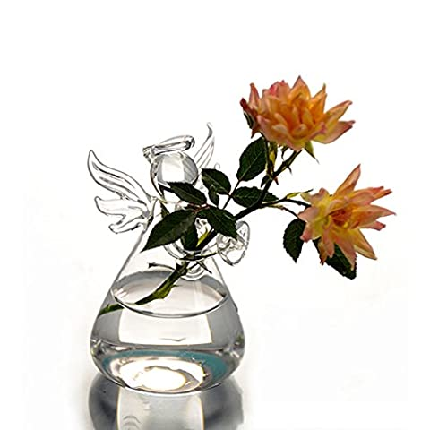 CALISTOUK The Design Style Of Perfect Special Vase Angel Crystal Glass Vase