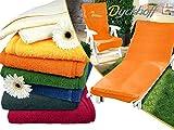 Schonbezug für Gartenstuhl & Gartenliege aus dem Hause Dyckhoff - erhältlich in 6 sommerlichen Farben - mit Kapuze für besseren Halt, Gartenliege (70 x 200 cm), orange