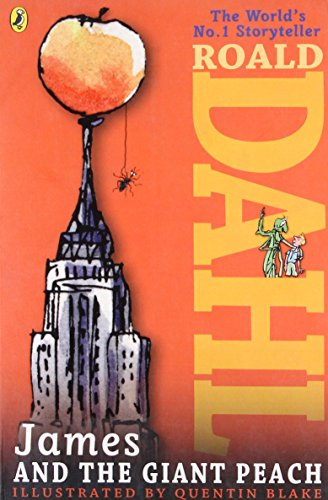 Book cover for James and the Giant Peach