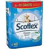 Scottex Décoré Pack de 40 Rouleaux de Papier Toilette