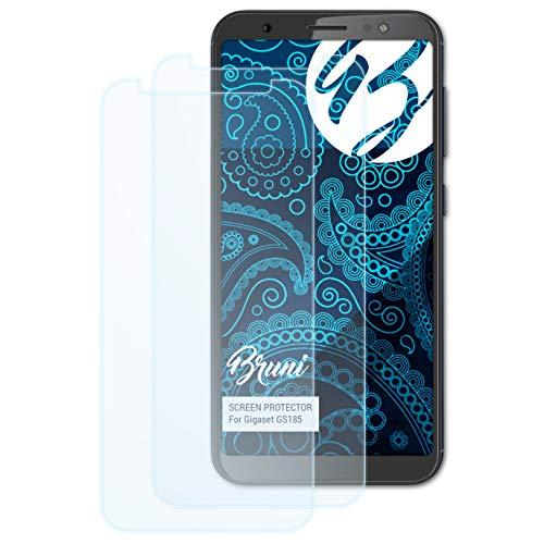 Bruni Schutzfolie kompatibel mit Gigaset GS185 Folie, glasklare Bildschirmschutzfolie (2X)