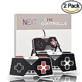 iNNEXT 2x Classique USB Manette Super Nintendo SNES pour Windows Mac Raspberry Pi (noir/rouge clés)