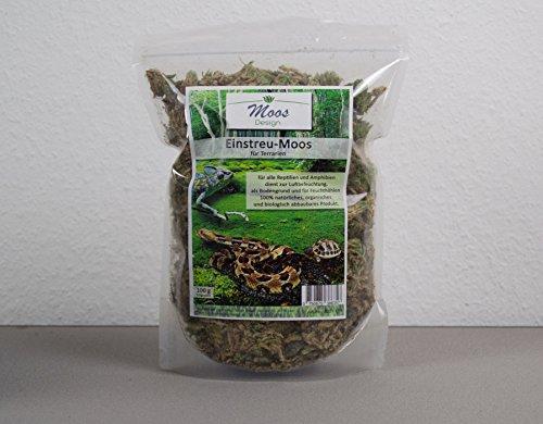 Bodengrund für Terrarien Moos Einstreu Sphagnum für Reptilien Amphibien Terrariumgrund Terrarrium Boden Streu für Höhle (100g)