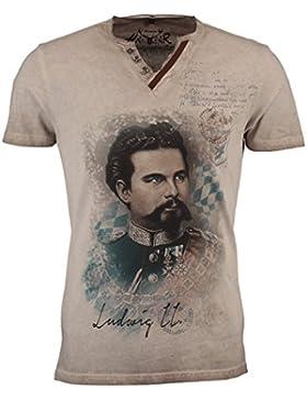 Hangowear Herren Trachten-T-Shirt Almont Beige
