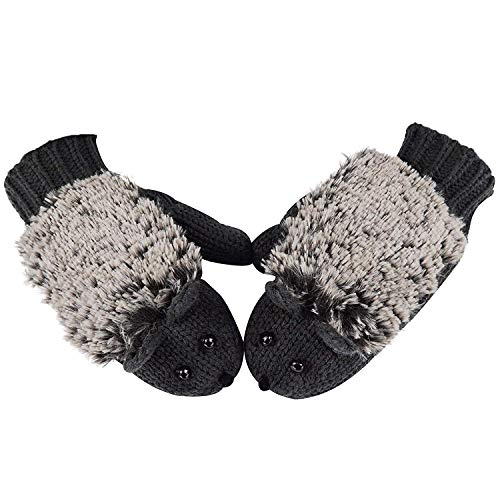 TSWRK Damen Winter-Handschuhe Igel - - Mittel