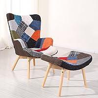Designetsamaison Fauteuil scandinave Patchwork - Stockholm