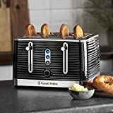 Russell Hobbs 24381 Inspire High Gloss Plastic Four Slice Toaster Black