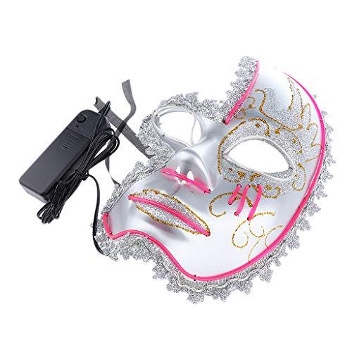 P PRETTYIA EL LED Maske Leuchtende Maske mit Venezianische Maske Stil für Halloween Karneval usw. - ()