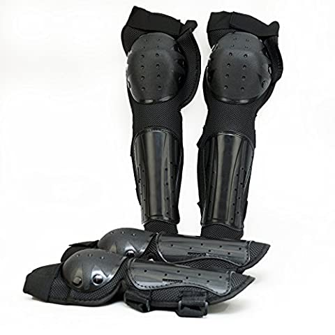 Fincci Coude de genou Long Shin Pads Protection de l'armure
