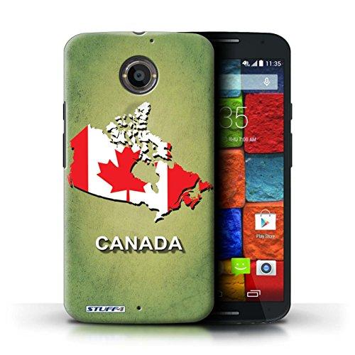 Kobalt® Imprimé Etui / Coque pour Motorola Moto X (2014) / Amérique/Américain/USA conception / Série Drapeau Pays Canada