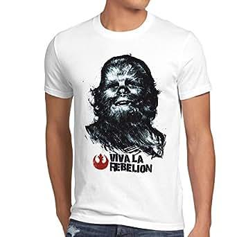 style3 Viva La Rebelion T-Shirt Homme guevara révolution, Taille:S;Couleur:Blanc