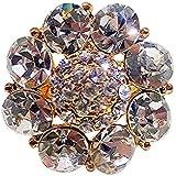 Day Traditional & Ethnic Gold Plated Finger Ring For Women (Adjustable, Golden Stone) - B077KLRKT5