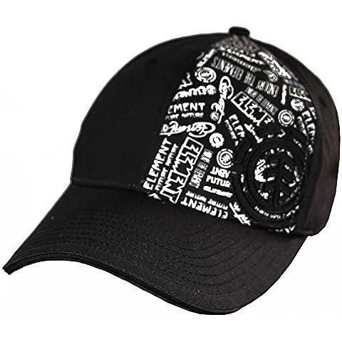 ELEMENT Fontomatik Gorra de béisbol, contorno de color negro Negro negro Talla:S/M