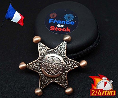 Hand Spinner céramique RARE et ORIGINAL Etoile de Sheriff Cow-Boy PREMIUM en métal (Or Rose) France en Stock ©