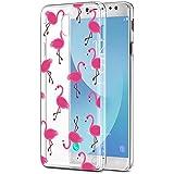 Funda Samsung Galaxy J5 2017, Eouine Ultra Slim Carcasa de Solicona Suave TPU, Transparante Pattern Funda Silicona Case Cover para Samsung Galaxy J5 2017 (5,2 Pulgadas) J530F Smartphone (Flamencos)