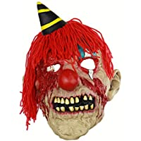 TYXHZL Halloween Horror Plush Bloody Clown Máscara de látex Haunted House Dressing Headgear