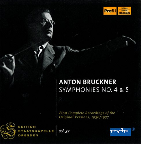 Preisvergleich Produktbild Staatskapelle Dresden Vol. 32; BRUCKNER: Symphonies 4+5