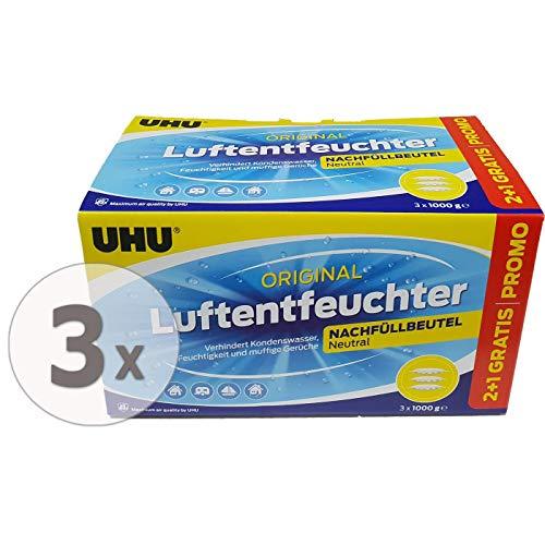 Gardopia Sparpaket: UHU airmax Luftentfeuchter Nachfüllpack (3X 1000g) 3 Stück