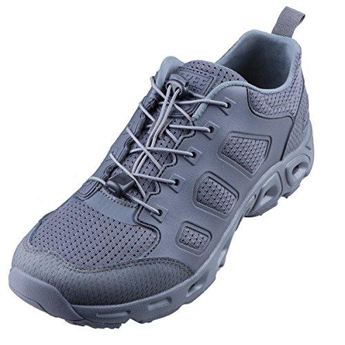 FREE SOLDIER Scarpe da outdoor da uomo, ultraleggere, traspiranti, ad asciugatura rapida, scarpe da trekking, adatte per camminare nell' acqua(Grigio, 45)