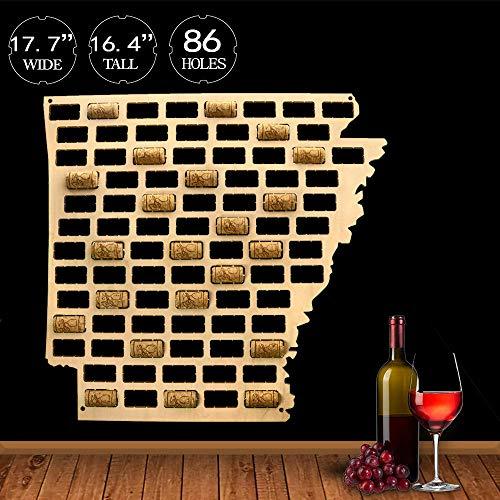 US Land Zustand Holz Weinkorken Karte Arkansas Weinkorken wiederverwendet Wand Display Karte Wein Kappe Wand Dekor MancaveHome Bar Geschenke -
