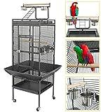 YOUKE Grande Bird Cage d'élevage/Volière pour cacatoès/Perroquet/Finch avec Support de Roues