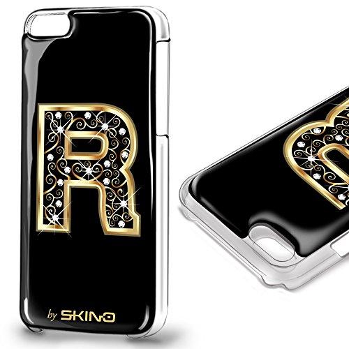 Skino™ Custodia Skin 3D Anti-Gravità Case Cover Resina Gel per iPhone 5 / 5s / 5 SE / 6/6 Plus / 6s / 6s Plus / 7/7 Plus Anti-Scratch Protezione 100% UV Antiscivolo Letter Gold Lettera Doro R (iPhone