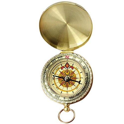 Kompass Messing Taschenkompass mit Deckel Taschenuhr Uhr