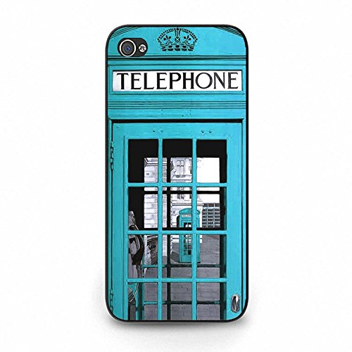 Iphone 5c Case,Unique Cool British Phone Booth Phone Case Cover for Iphone 5c Phone Booth Shell Cover Color174d