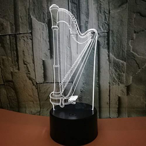 led nachtlicht,Harfe 3D-Licht Buntes visuelles Touch-LED-Licht