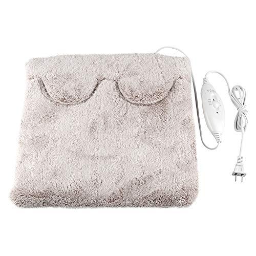 Ftvogue scaldapiedi riscaldatore elettrico regolabile a temperatura regolabile lavabile cuscino rimovibile in flanella riscaldamento per piedi mani corpo spegnimento automatico(02)