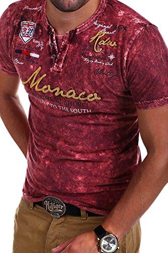 MT Styles Vintage T-Shirt VT-MONAC R-2408 [Rot, M]