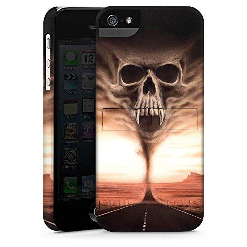 Apple iPhone X Silikon Hülle Case Schutzhülle Skull Wüste Schädel Premium Case StandUp